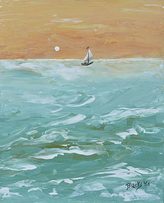 Painting - We Sail At Dawn by Donna Blackhall