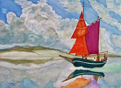 Painting - We Sailed Upon A Sea Of Glass by Rand Swift