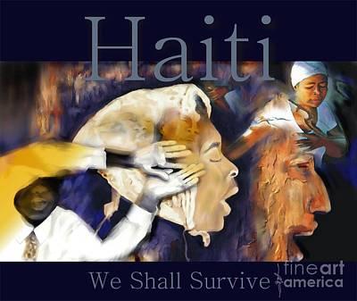 We Shall Survive Haiti Poster Art Print by Bob Salo