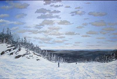 Painting - We Ski by Ken Ahlering