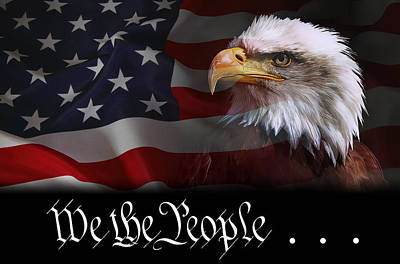 We The People . . . Of The United States Of America Art Print by Daniel Hagerman