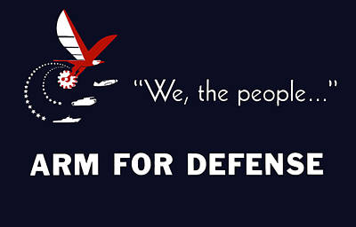We The People Arm For Defense Art Print