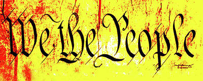 We The People Celebrate A Republic Artist Series Jgibney The Museum Art Print by The MUSEUM Artist Series jGibney