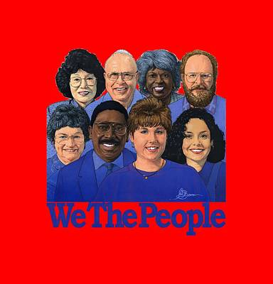 Mixed Media - We The People Shirt by John D Benson