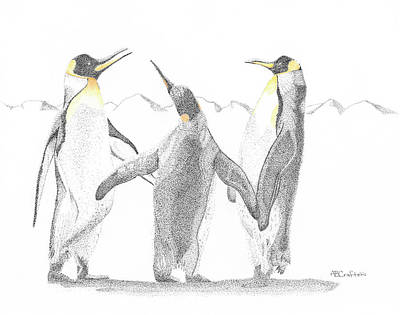 Drawing - We Three by Arlene Crafton