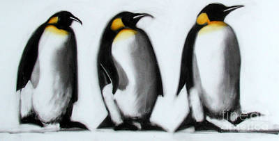 King Penguin Painting - We Three Kings by Paul Powis