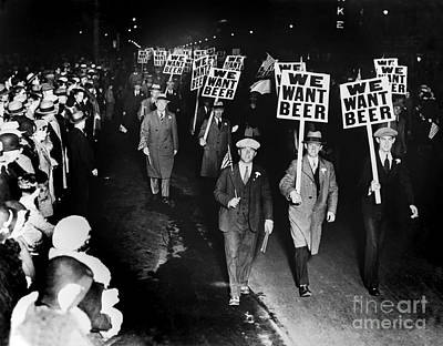Police Photograph - We Want Beer by Jon Neidert