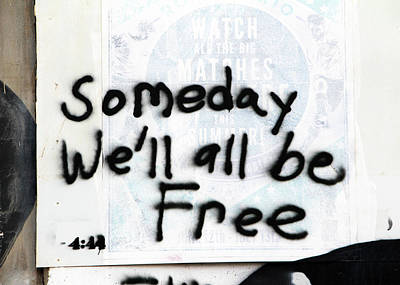 Photograph - We Will All Be Free by Munir Alawi