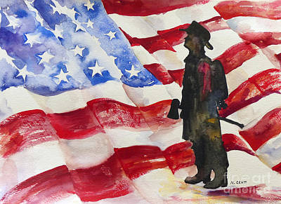 September 11 Painting - We Will Never Forget by Mafalda Cento