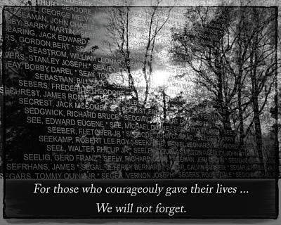 Photograph - We Will Never Forget by Susan McMenamin