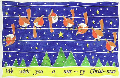 Lyric Painting - We Wish You A Merry Christmas by Cathy Baxter