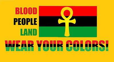 Digital Art - Wear Red Black And Green by Adenike AmenRa