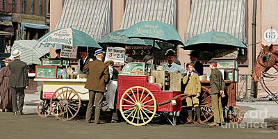 Photograph - Wear Youngs Hats At Frankfurter Hot Dog Stands 3 Cents Each 20170707 Colorized by Wingsdomain Art and Photography