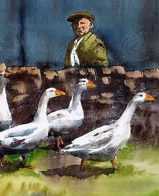 Painting - Weare Off To See The Wild West Show by Val Byrne