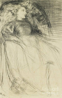 Chair Drawing - Weary by James Abbott McNeill Whistler