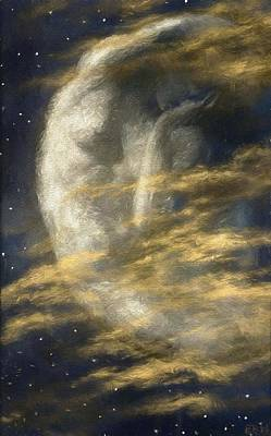 Painting - Weary Moon by Edward Robert Hughes