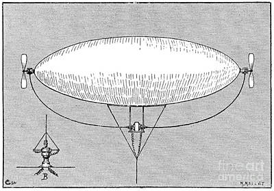 Weather Balloon, 19th Century Art Print by Spl