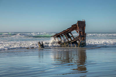 Peter Iredale Photograph - Weather Beaten 0684 by Kristina Rinell