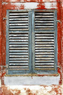 Weather-beaten Window Print by Gaspar Avila