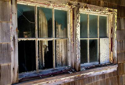 Photograph - Weather Beaten Windows by Bob Slitzan