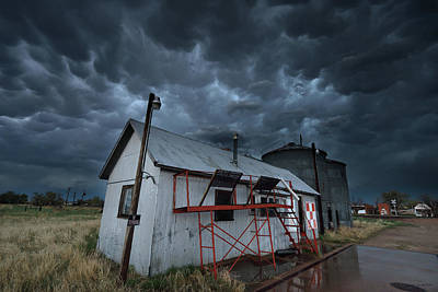 Mammatus Cloud Photograph - Weather In A Western Small Town by Brian Gustafson
