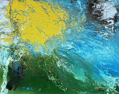 Drips Painting - Weather Map by Jutta Maria Pusl