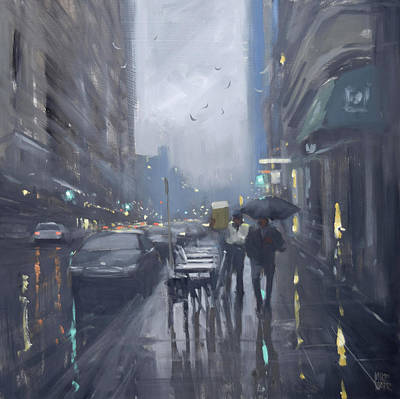 Wall Art - Painting - Weather On Waymouth by Mike Barr