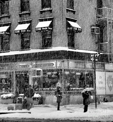 Photograph - Weather Or Not - We Are Going Out - Winter In New York by Miriam Danar