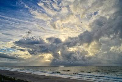 Photograph - Weather Over Topsail Beach 2977 by Wesley Elsberry
