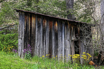 Photograph - Weather Worn Shed by John Haldane