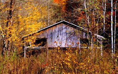 Photograph - Weathered Barn 1 by Sam Davis Johnson
