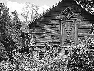 Photograph - Weathered Barn Catskill Hi-def Monochrome  by Ellen Levinson