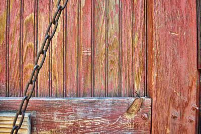 Photograph - Weathered Barn Door- Photography by Ann Powell