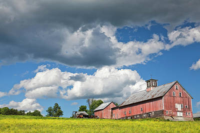 Photograph - Weathered Barn Landscape by Alan L Graham