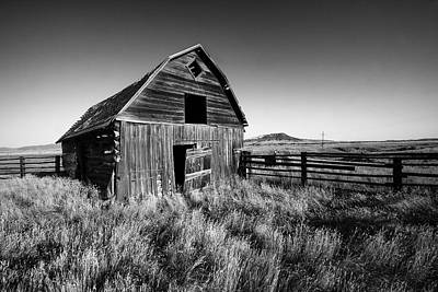 Rural Decay Photograph - Weathered Barn by Todd Klassy