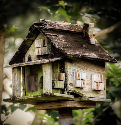 Photograph - Weathered Bird House by Richard Goldman