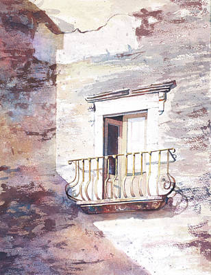 Painting - Weathered Building by Ryan Fox