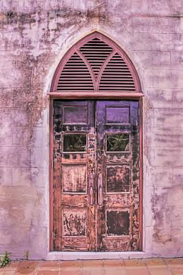 Photograph - Weathered Church Door In Nassau Bahamas by Gary Slawsky