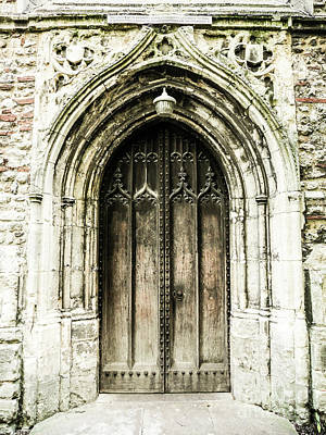 Photograph - Weathered Church Door by Lexa Harpell