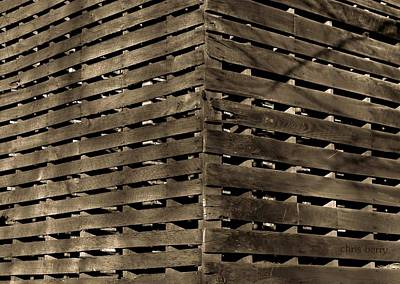 Photograph - Weathered Corn Crib by Chris Berry