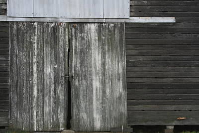 Photograph - Weathered Crib Door by Dylan Punke