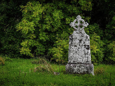 Photograph - Weathered Cross In Killone Abbey by James Truett