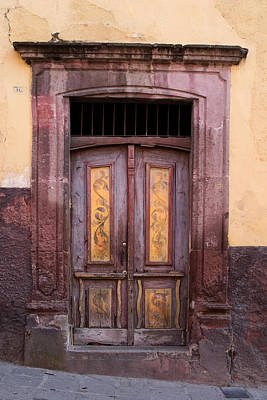 Old Street Photograph - Weathered Door by Carol Leigh