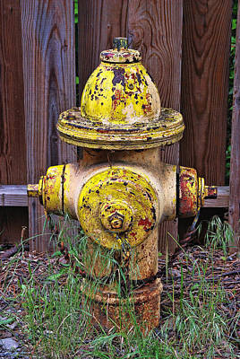 Photograph - Weathered Fire Hydrant by Allen Beatty