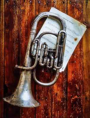 Tuba Wall Art - Photograph - Weathered Flugel Horn by Garry Gay