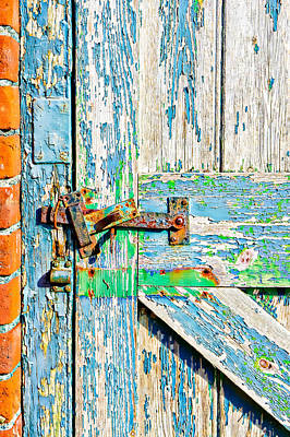 Painted Garden Gate Photograph - Weathered Gate by Tom Gowanlock