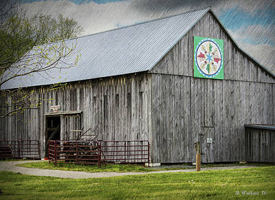Shed Digital Art - Weathered Gray by Brian Wallace