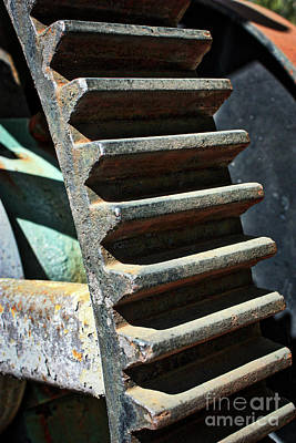 Photograph - Weathered Metal Cogs by Carol Groenen
