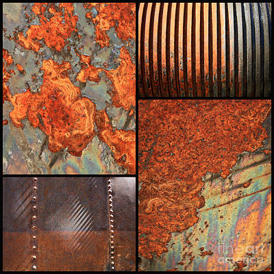 Photograph - Weathered Metal Collage 4 by Carol Groenen