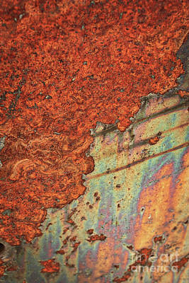 Photograph - Weathered Metal Oxidation by Carol Groenen